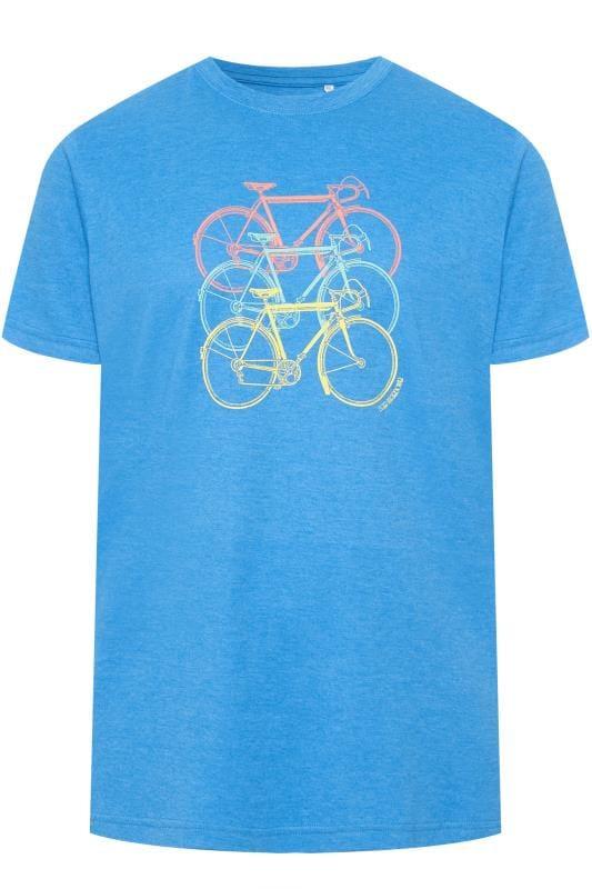 Plus Size T-Shirts BAR HARBOUR Cobalt Blue Printed T-Shirt
