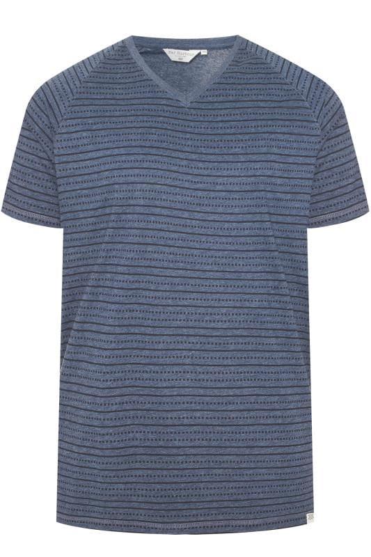 BAR HARBOUR Blue Printed T-Shirt