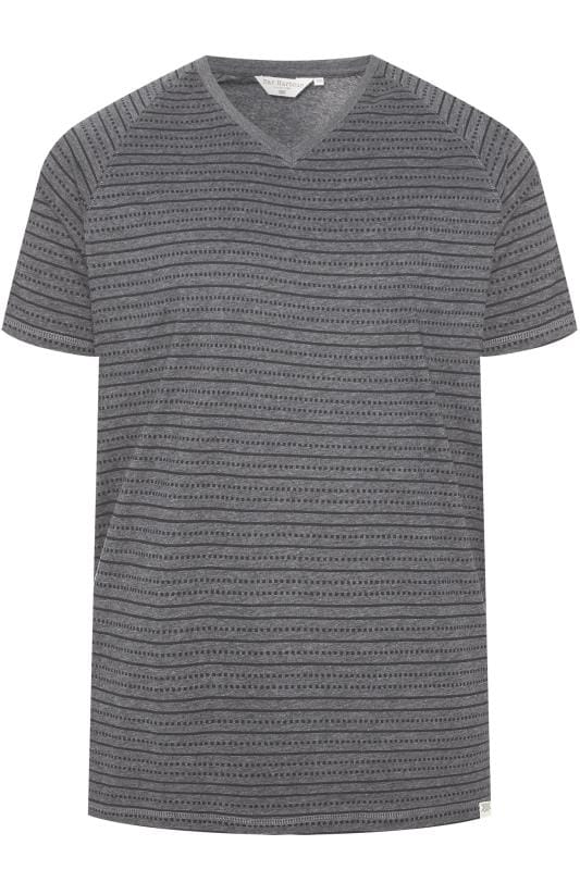 Plus Size T-Shirts BAR HARBOUR Charcoal Printed T-Shirt