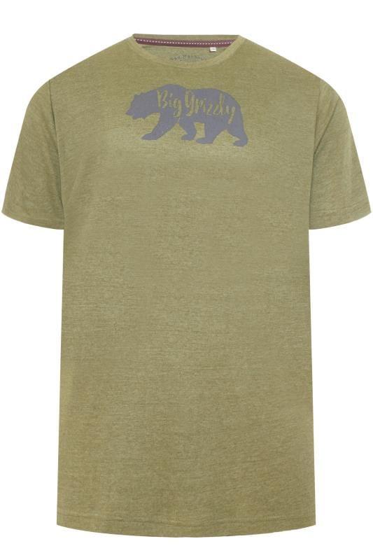BAR HARBOUR Moss Green Printed T-Shirt
