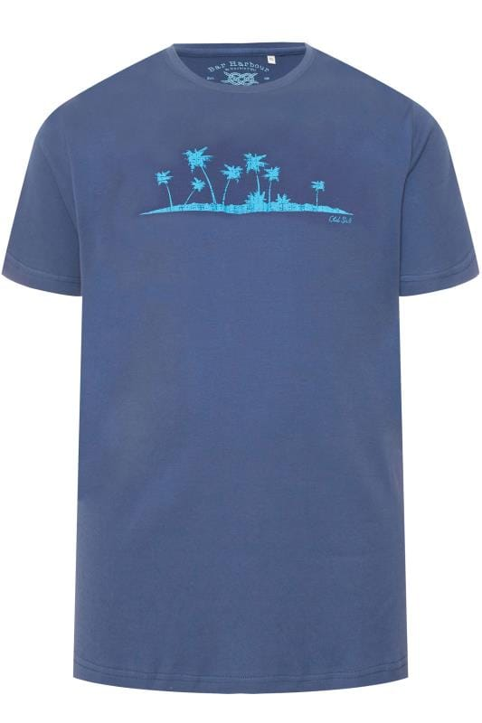 T-Shirts BAR HARBOUR Navy Palm Tree Printed T-Shirt 203337