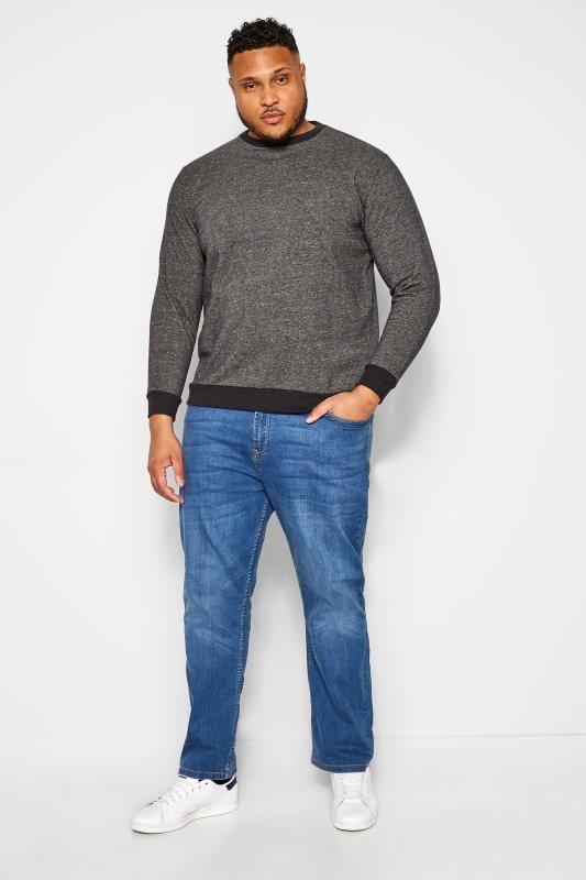 BAR HARBOUR Charcoal Grey Marl Sweatshirt