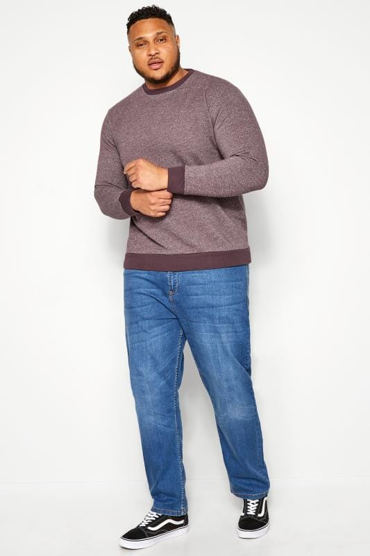 BAR HARBOUR Purple Marl Sweatshirt