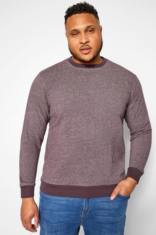 Plus Size Jumpers BAR HARBOUR Purple Marl Sweatshirt