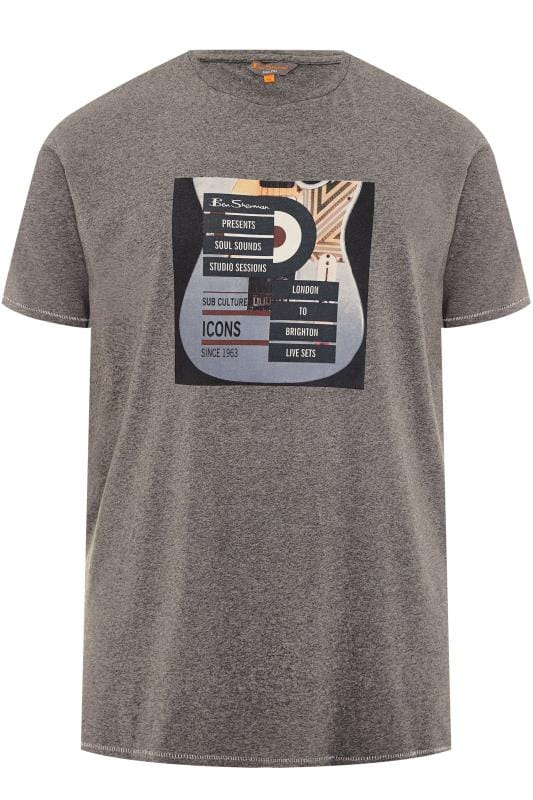 T-Shirts BEN SHERMAN Grey Guitar T-Shirt 201445