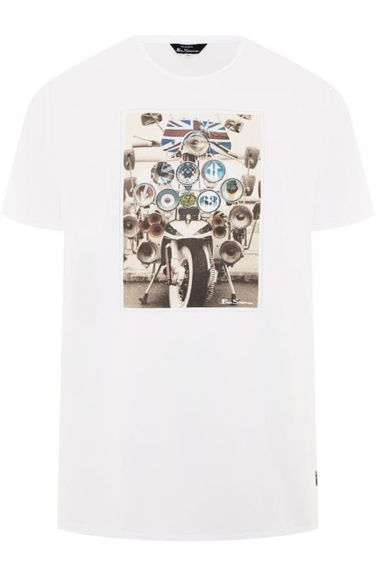 T-Shirts BEN SHERMAN White Headlamp Scooter T-Shirt 201451