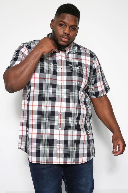 Plus Size Ben Sherman Shirts BEN SHERMAN Navy & Red Check Shirt