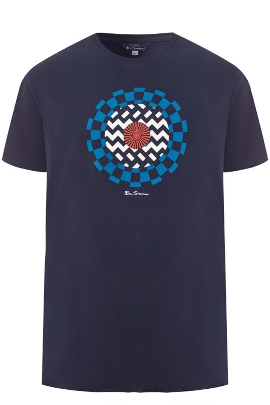 T-Shirts BEN SHERMAN Navy Optical Art T-Shirt 201444