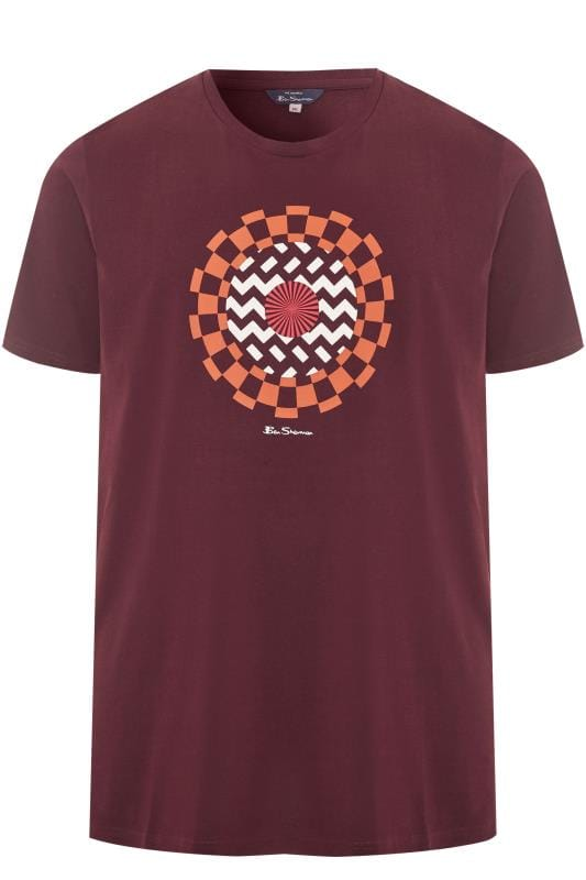 T-Shirts BEN SHERMAN Burgundy Optical Art T-Shirt 201443