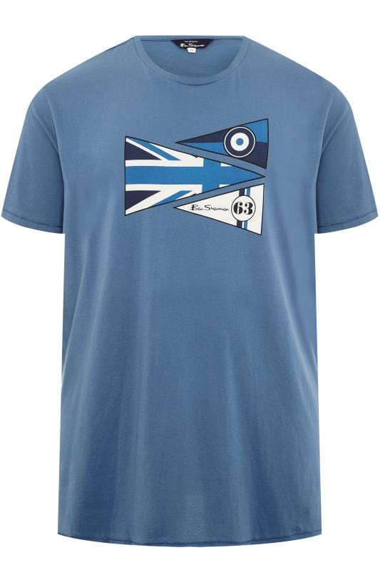 T-Shirts BEN SHERMAN Blue Flags T-Shirt 201450