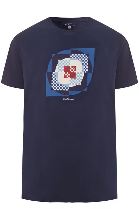 T-Shirts BEN SHERMAN Navy Square Target T-Shirt 201449
