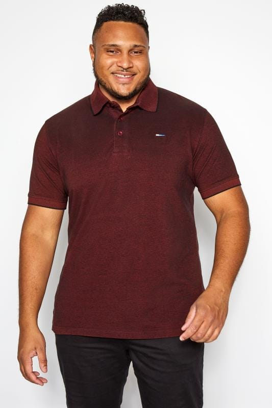 Polo Shirts BadRhino Burgundy Birdseye Polo Shirt 201204