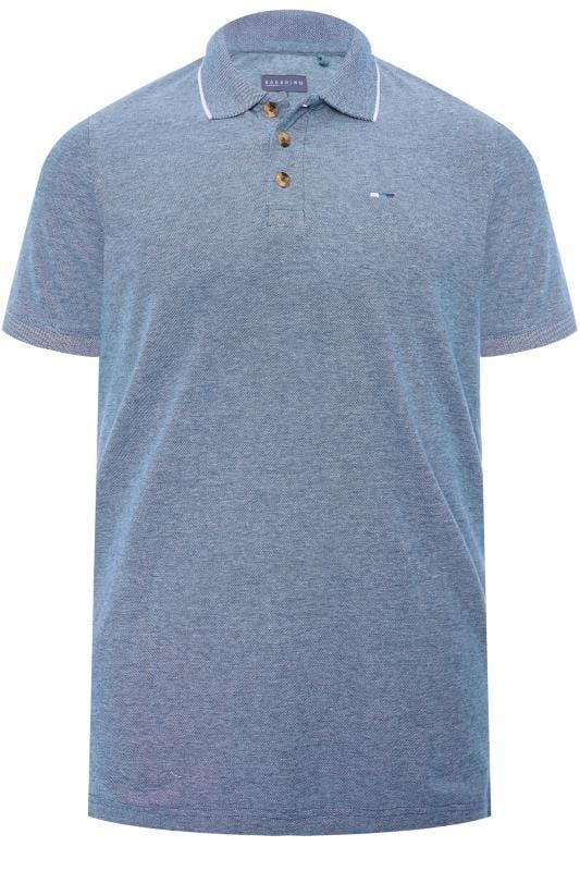BadRhino Blue Birdseye Polo Shirt