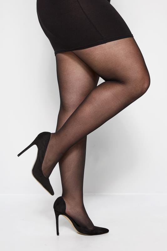 Black 20 Denier Super Stretch Tights