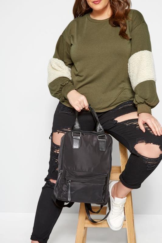 Bags & Purses Black Backpack