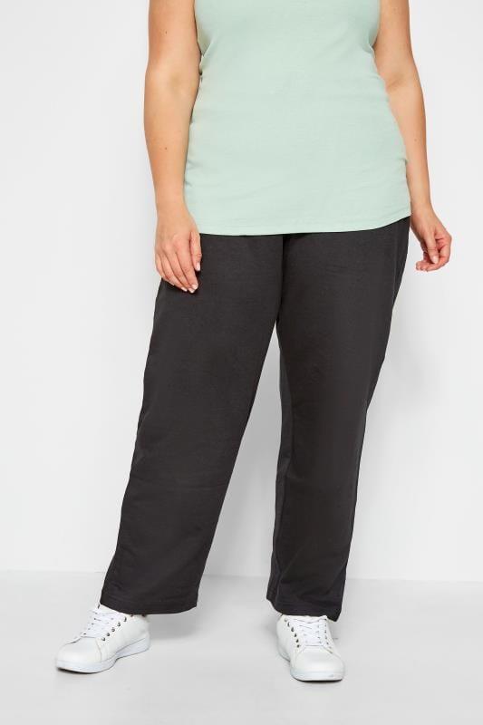 Black Basic Straight Leg Joggers