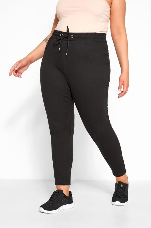 Black Basic Straight Leg Joggers