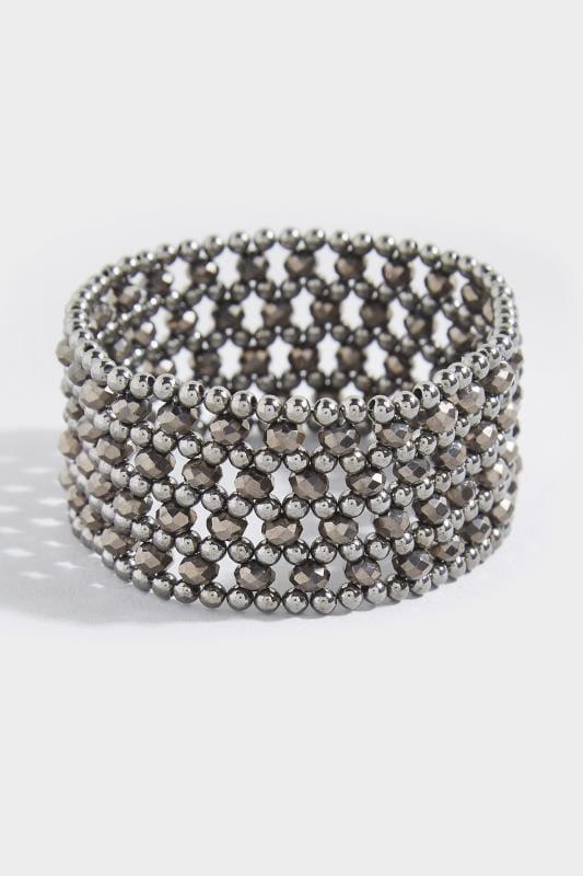 Große Größen Schmuck Black Beaded Bracelet