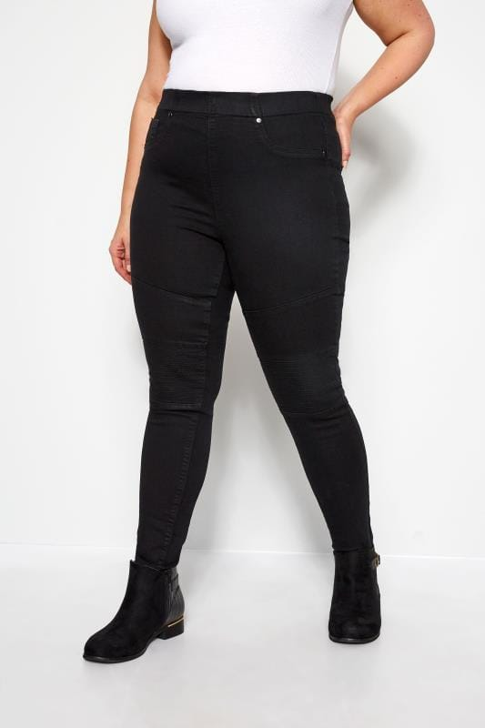 Black Biker JENNY Jeggings