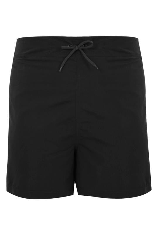 Black Multi-Purpose Swim Shorts With Drawstring Waist