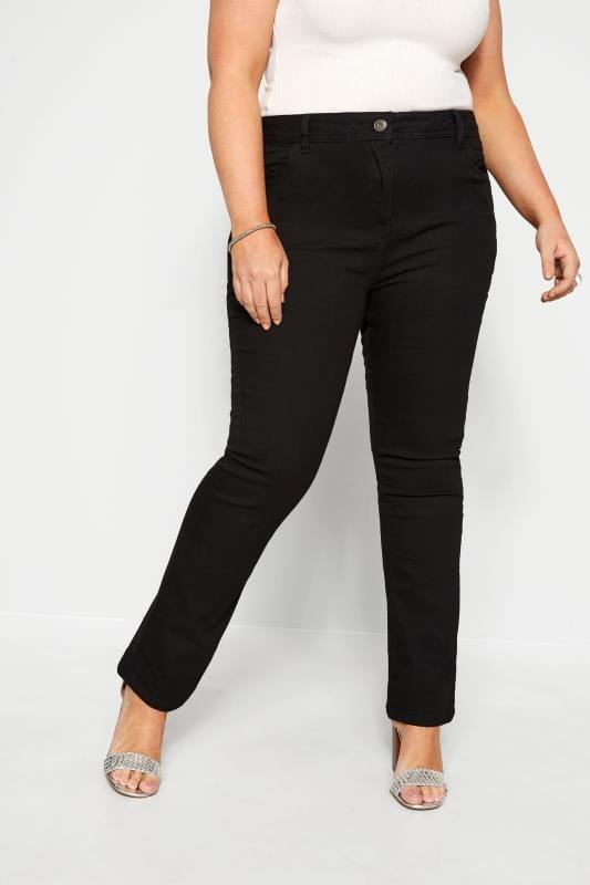 Schwarze Bootcut Jeans ISLA