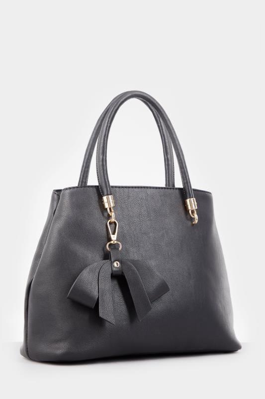 Black Bow Tote Bag