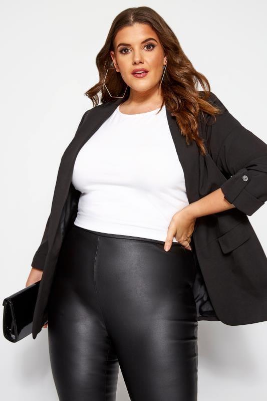 Plus Size Blazers Black Boyfriend Blazer Jacket
