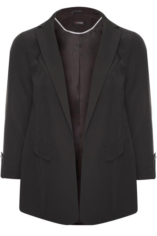 Black Boyfriend Blazer Jacket
