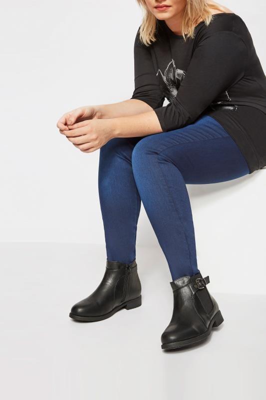 Black Chelsea Ankle Boot In EEE Fit