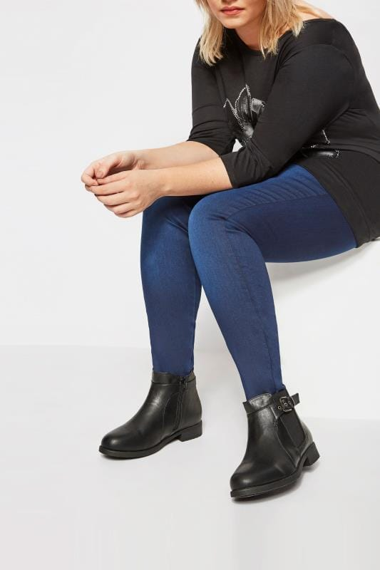 Black Chelsea Ankle Boot In EEE Fit