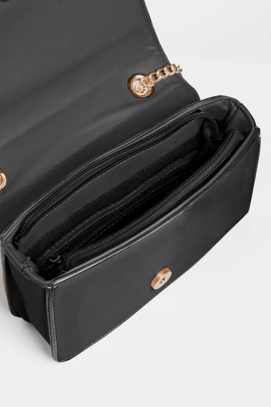 Black Chevron Cross Body Bag