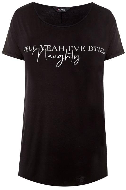 Black Christmas Slogan T-Shirt