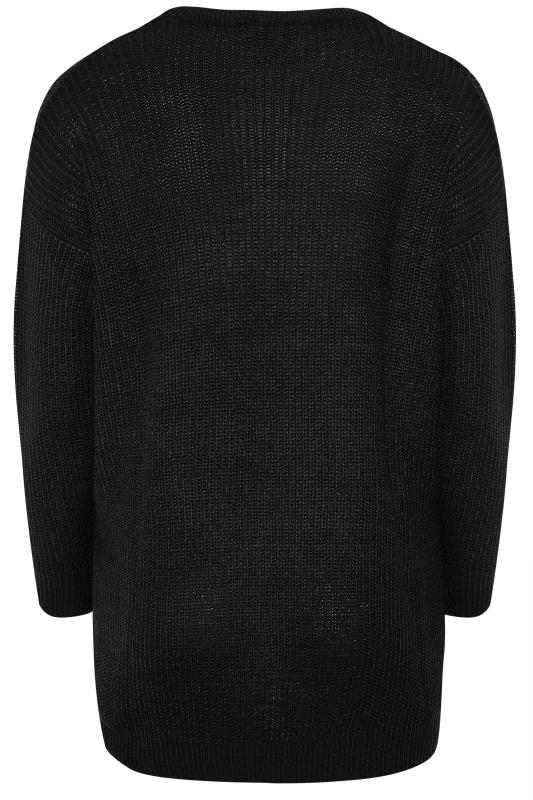 Black Chunky Knitted Jumper