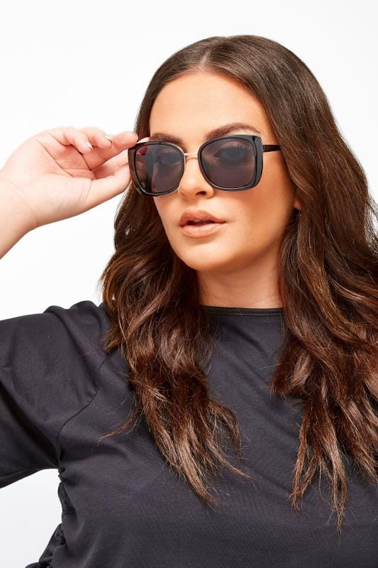 Plus Size Sunglasses Black Chunky Oversized Sunglasses