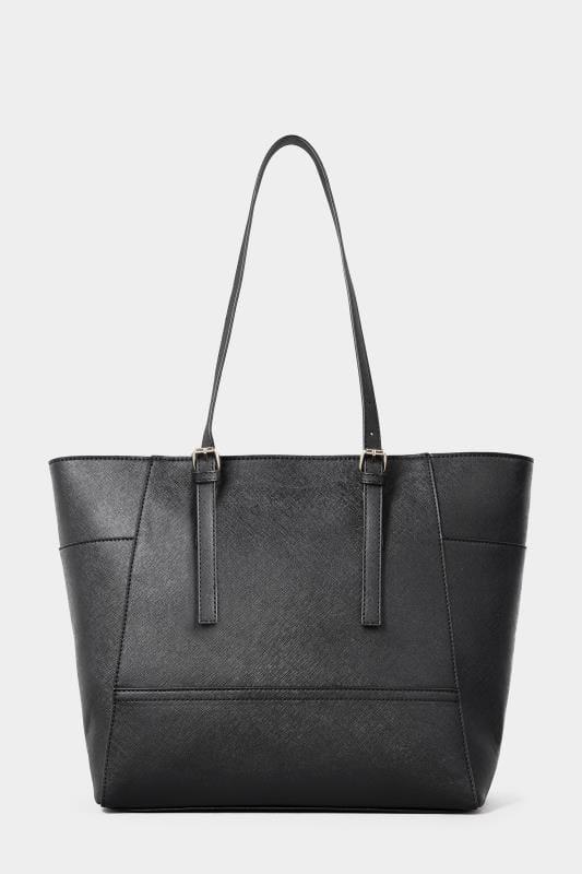 Black Contrast Detail Shopper Bag