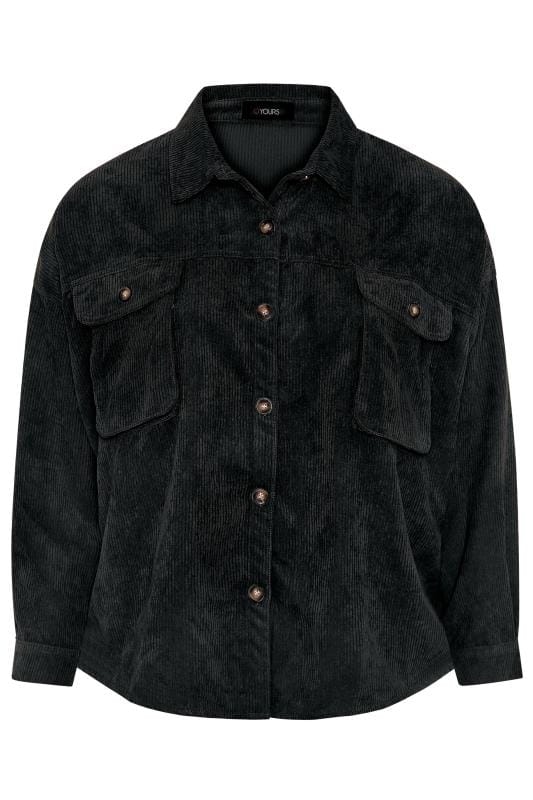 Black Cord Shacket