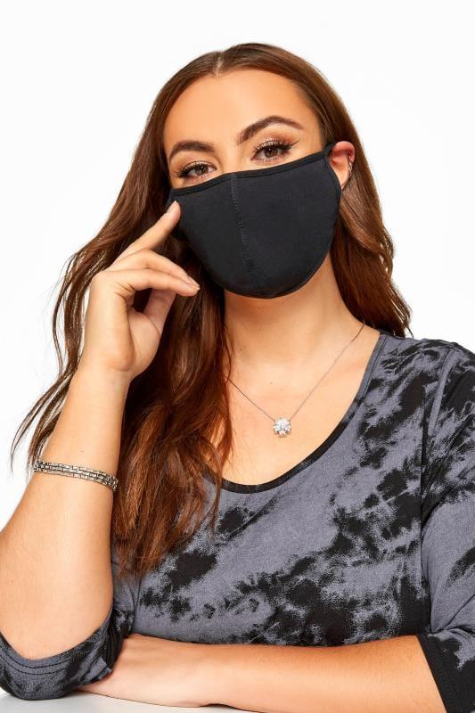 Black Cotton Antibacterial Face Mask