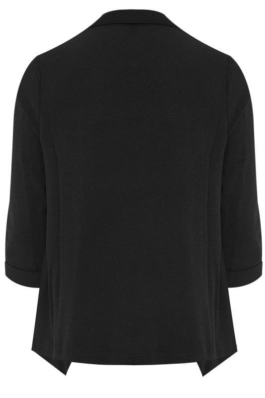 Black Crepe Waterfall Jacket