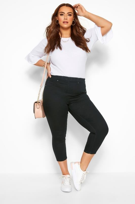 Plus Size Gifts Black Cropped JENNY Jeggings