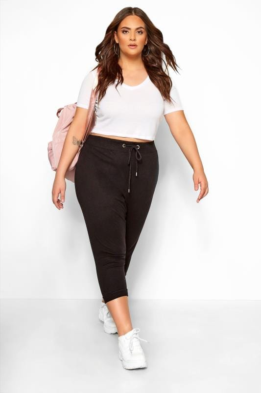 Beauty Black Cropped Joggers
