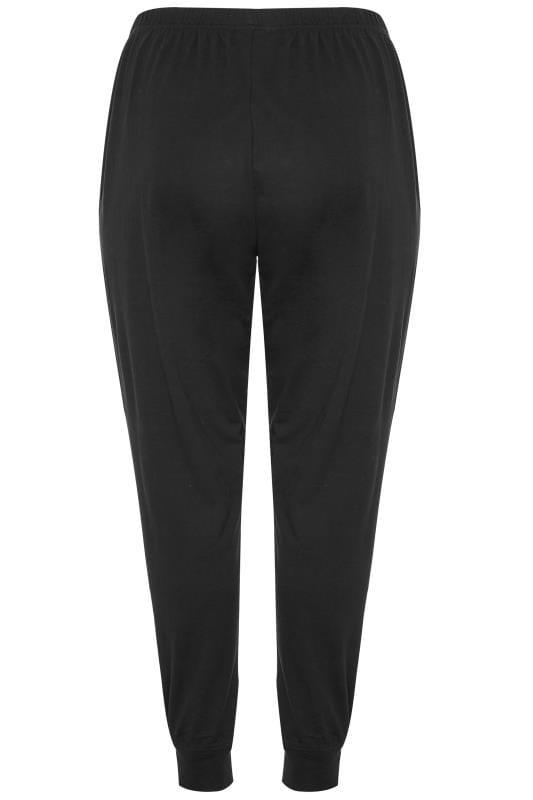 Black Cuffed Pyjama Bottoms