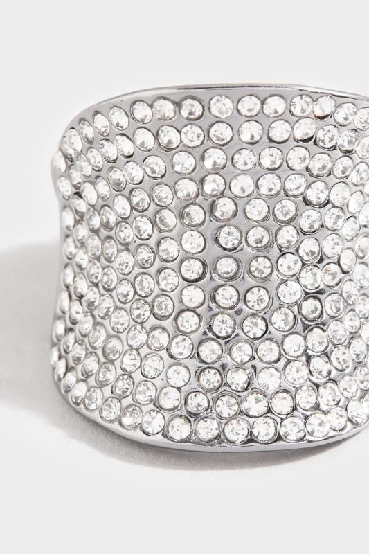 Black Diamante Stretch Ring