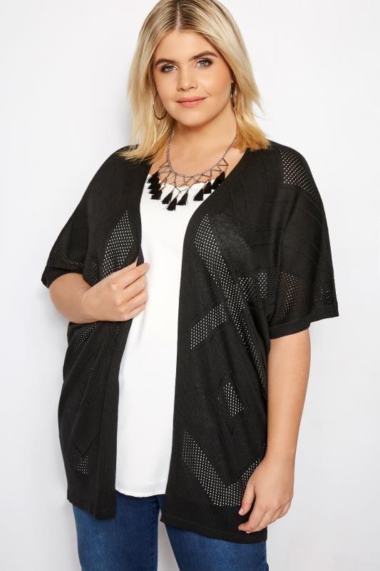 Black Diamond Knit Cardigan