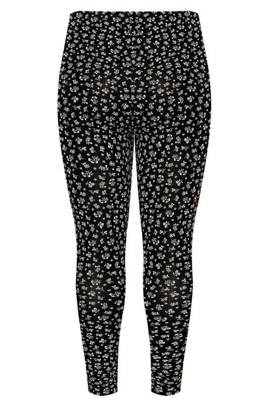 Black Ditsy Floral Leggings