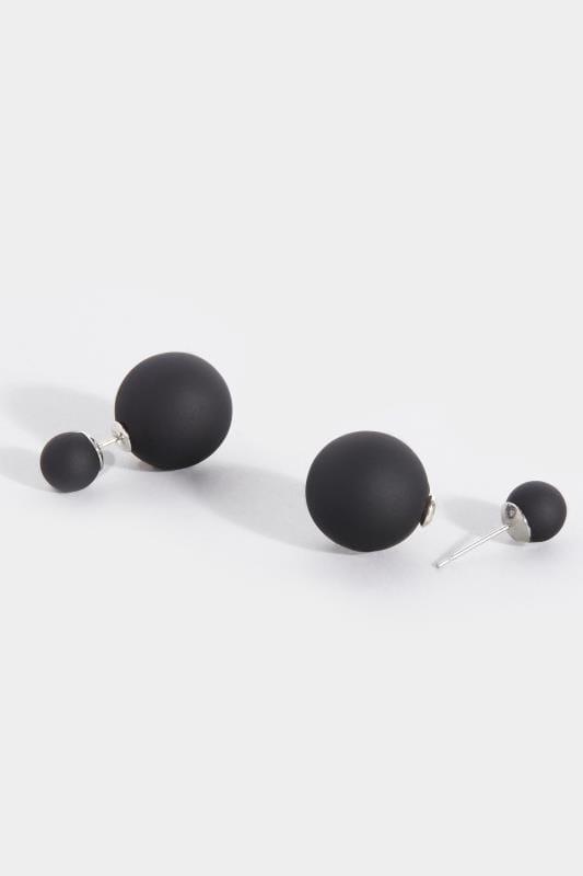 Zwarte dubbele oorbellen