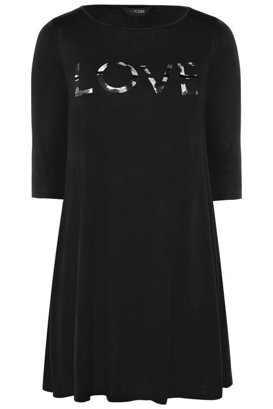 Black 'Love' Swing Dress