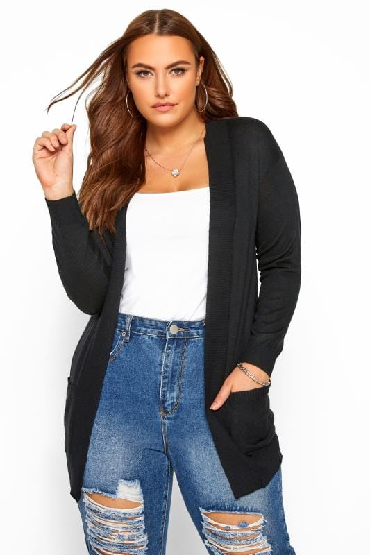 Black Edge To Edge Cardigan