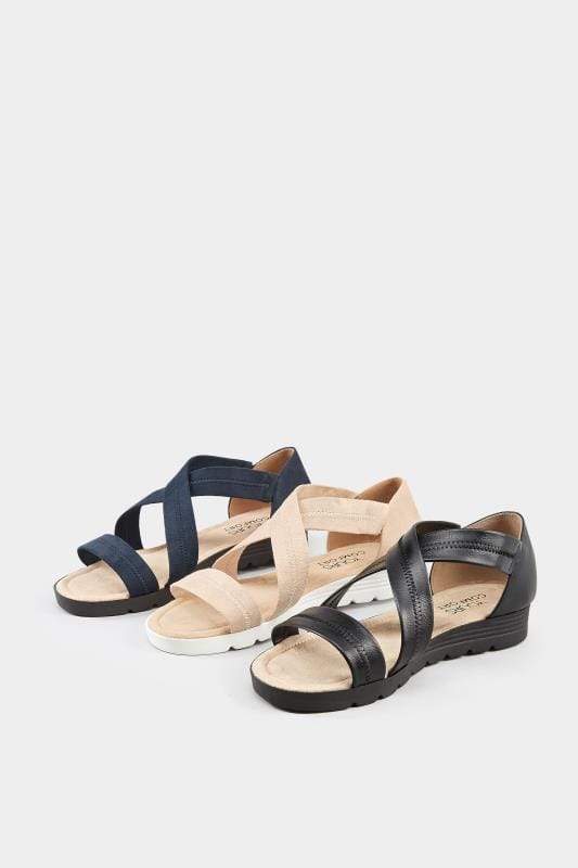 Navy Closed Back Cross Over Sandals In Extra Wide Fit_1565.jpg