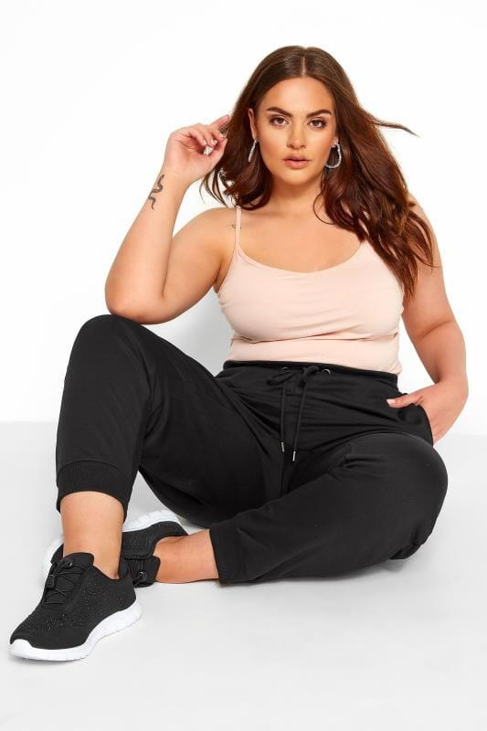 Joggers Black Elasticated Joggers