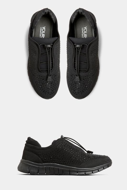 Black Embellished Drawcord Trainers In Extra Wide Fit_21c4.jpg